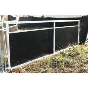 Barrière pleine, contreplaqués. 2.50 m x 0.9 m