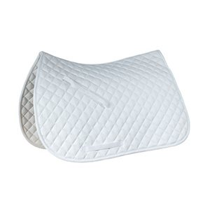 Horse Saddle Pad, White