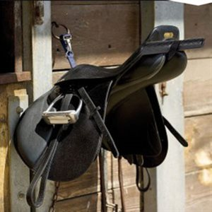 Black saddle support for travel