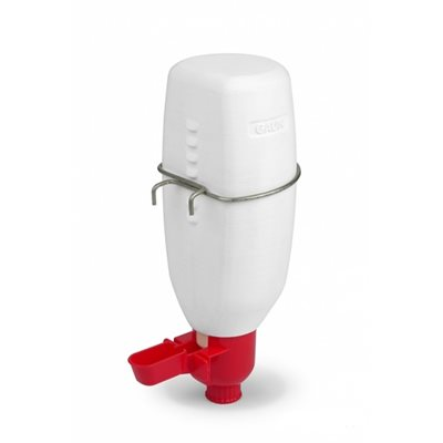 Mini drinker for poultry with bottle, 1 l. Red