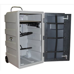 Upright mobile tack cabinet - Gray 60 x 65 x 126 cm