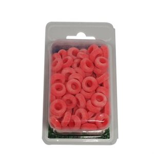 Rubber rings castrating bands, Orange pkg / 100
