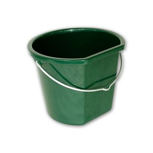Hardly flat back plastic bucket 17 l.