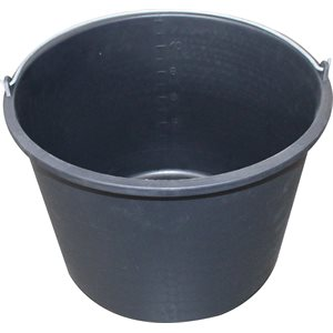 Hardly 12 l. bucket with handle, Black