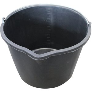 Hardly 15 l. bucket with spout, Black
