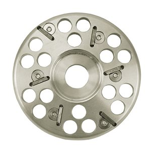 Hoof aluminum grinding disc with 6 knifes
