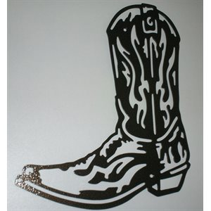 Cowboy boot wall decoration