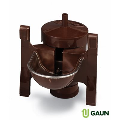 Metal & plastic automatic drinker only, Brown