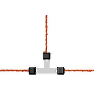 Raccord en T pour fil galvanisé emb / 5