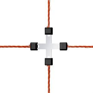 Raccord en X pour fil galvanisé, emb / 5 (0420191)