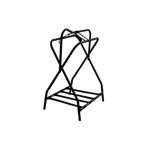 Standing metal rack black